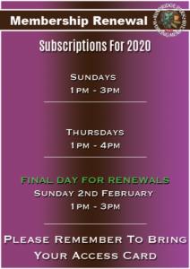 Membership Subscription Renewal